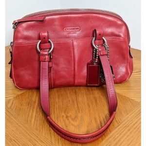 Coach Red Leather Bonnie Satchel